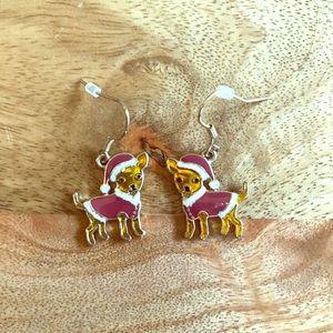Jewelry - Christmas chihuahua earrings